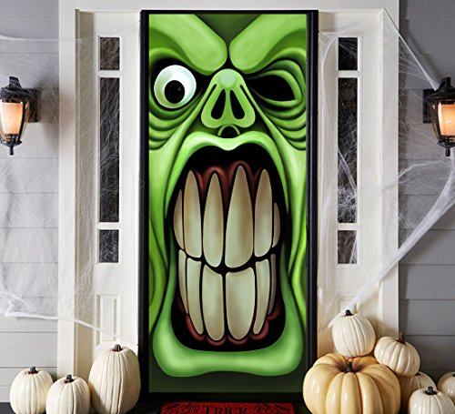 Halloween Haunted House Door Cover Props - Green