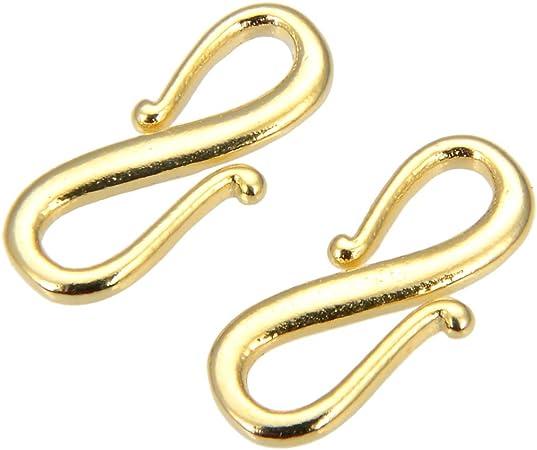 Magnetverschluss Armband DIY Schmuck DQ Metall Schmuckverschluss Ros/égold 1 St/ück 14 x 8 mm Sadingo Magnetverschluss