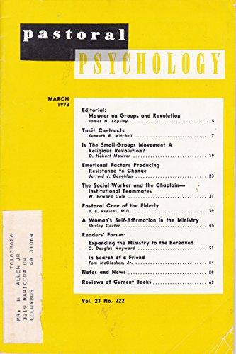 Pastoral Psychology March 1972