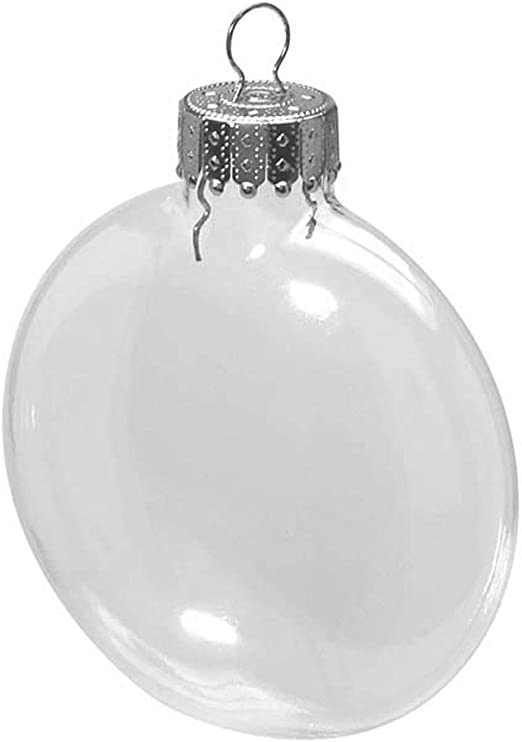 Clear Glass Disc Ornaments 3-1//8 inches Darice 2610-57
