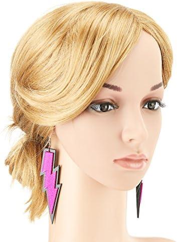 clothing, shoes, jewelry, women, jewelry, earrings,  drop, dangle 12 discount ZeroShop Women Fashion Retro Neon Earrings promotion