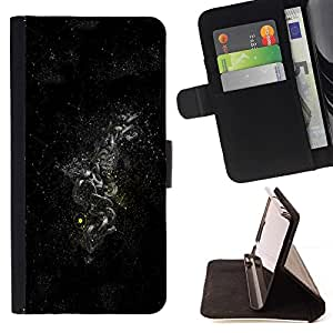 DEVIL CASE - FOR Sony Xperia m55w Z3 Compact Mini - Dark Space Galaxy - Style PU Leather Case Wallet Flip Stand Flap Closure Cover