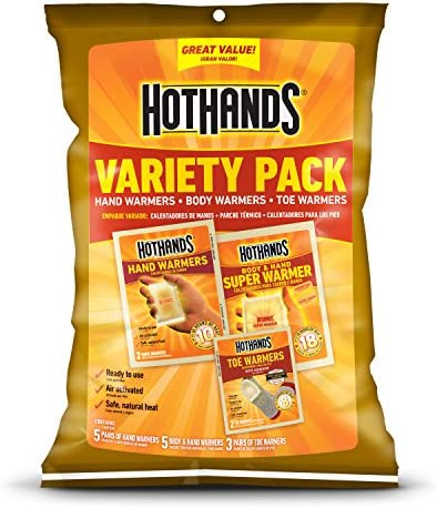 20 x HOTHANDS ADHESIVE BODY WARMERS POCKET PACKS SKIING SNOWBOARDING WARM WINTER