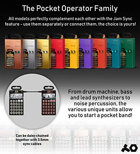 Teenage Engineering PO-35 Speak Pocket Operator Built-In Mic, Patterns/Effects Synthesizer & Sequencer Bundle with CA-X Silicone Case, Blucoil 6-FT Headphone Extension Cable (3.5mm) & 2 AAA Batteries by blucoil (Image #7)
