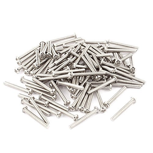 Amazon.com: eDealMax 100 Pcs M2x16mm Redondo de Acero ...