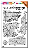 STAMPENDOUS CLING STAMPS/STENCIL GRUNGE SCR, Rubber