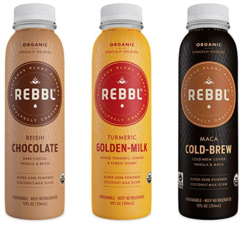 Rebbl Super Herb Powered Coconut-Milk Elixir Variety Pack, 2 of each Flavor (6 Pack) by Rebbl (Image #1)