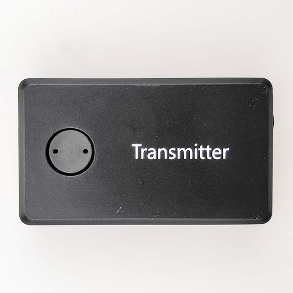 Mioloe Adattatore Bluetooth per dispositivi audio da 3, 5 mm Trasmettitore Bluetooth stereo portatile con musica stereo