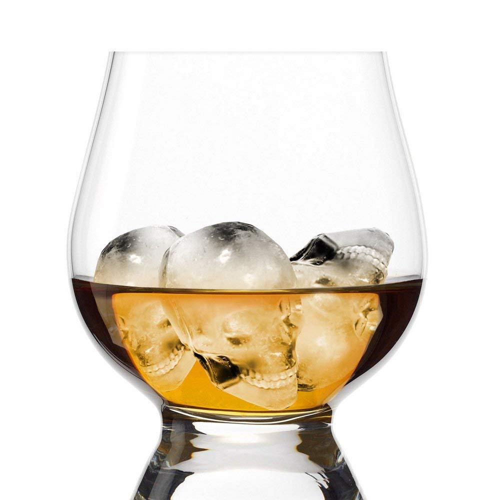 Licor y Otras Bebidas 1 Pack Whisky Family in Cubitera de Hielo Calavera de Silicona Molde Bandeja Esfera Skull de Hielo para Cocktails