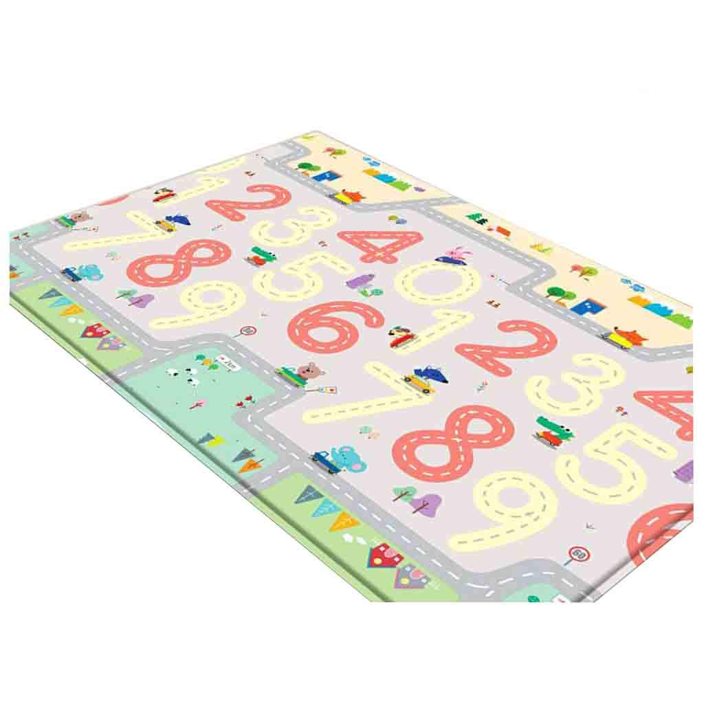 XY ラグカーペット 子供たちを這う教育ゲーム赤ちゃんゲームパッドソフトフォームカーペットカーペットピクニックトレーニング (色 : A)  A B07KVL1PQH