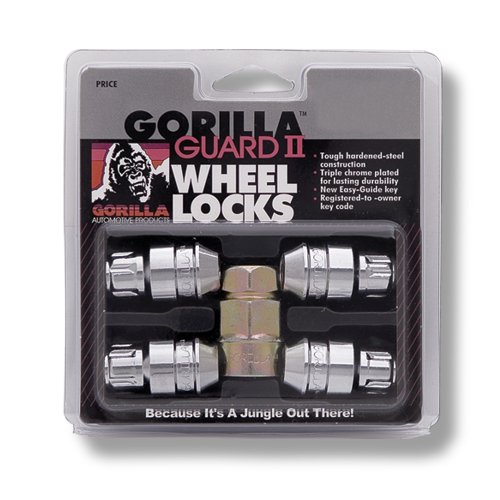 Gorilla Automotive 61621N Chrome Acorn Gorilla Guard II Wheel Locks - Set of 4 (12mm x 1.25 Thread (1987 Nissan Pathfinder Wheel)