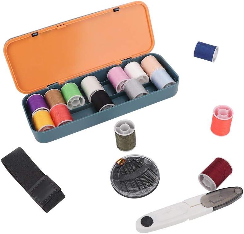 con Forbici Filo e ago 3# Mini Kit da Cucito Multifunzionale Fdit ditale