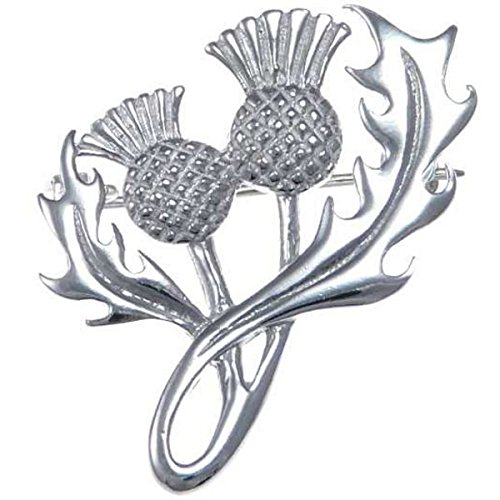 Sterling Silver Thistle Brooch Scottish Pin