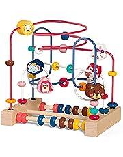 Labyrint leksak 5 i 1 motorikrosett baby leksak pärlor labyrint motorikkub pedagogisk leksak abakus barnleksak från 1 2 3 år pojke flicka barn
