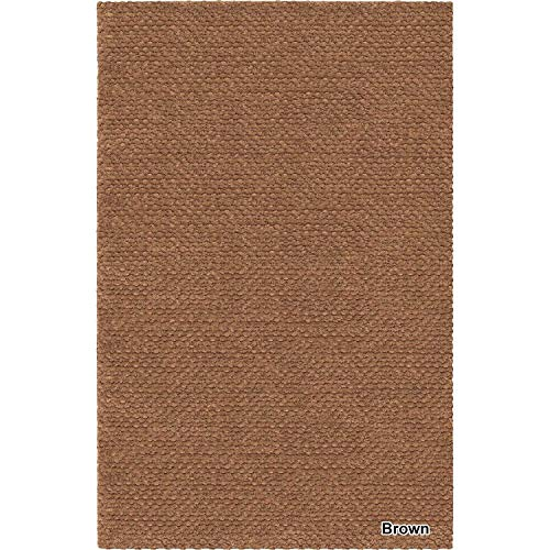 Artist's Loom Hand-Woven Contemporary Solid Pattern Shag Rug (5'x7'6