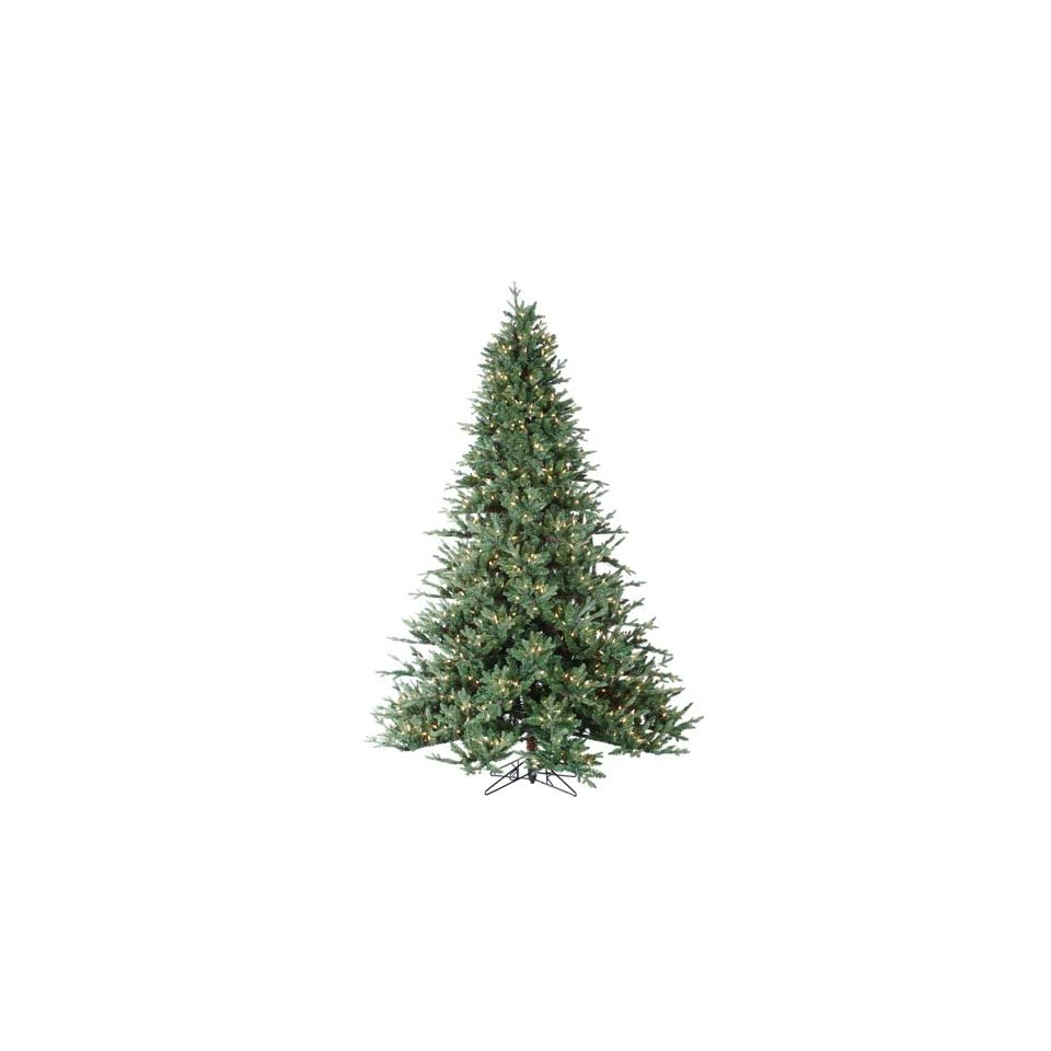 7.5 Pre Lit Natural Cut Layered Maine Spruce Artificial Christmas Tree   Clear