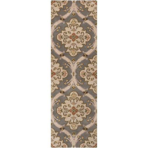 Surya CRN-6026 Crowne Classic Area Rug, 2-Feet 6-Inch by 8-Feet, Gray