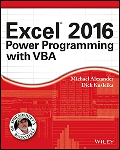 Amazon Com Excel 2016 Power Programming With Vba Mr Spreadsheet S