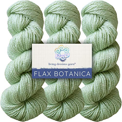 High Quality Linen Yarns - Living Dreams Flax Botanica DK Yarn. Elegant Merino Linen Silk. Cruelty Free & Responsibly Sourced. Pacific Northwest Handmade. Bulk Discount Pack, Pistachio