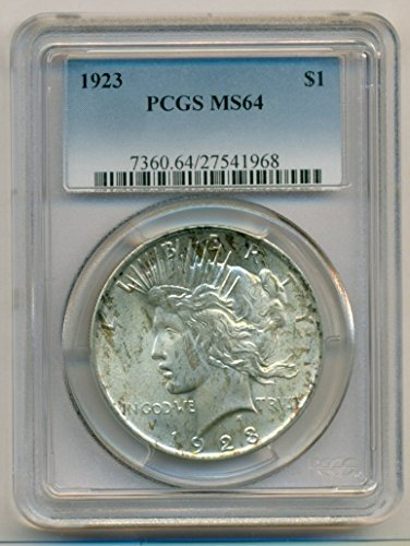 1923 Peace Silver Dollar MS64 PCGS