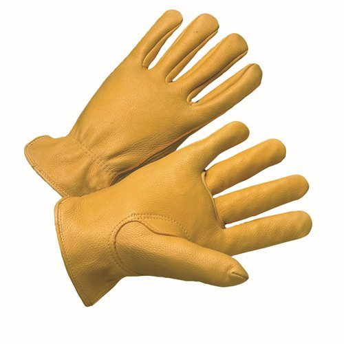 West Chester 9925K Leather Glove, XL, Natural (Pack of 12)