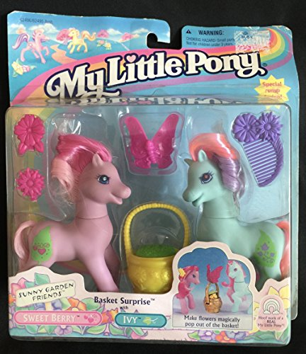 Vintage My Little Pony Basket Surprise Sweet Berry and Ivy Figures 1997