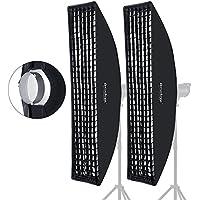 Godox 35x160cm 14x63 Beehive Honeycomb Grid Strip Softbox Bowens Mount for Studio Flash (2pcs)