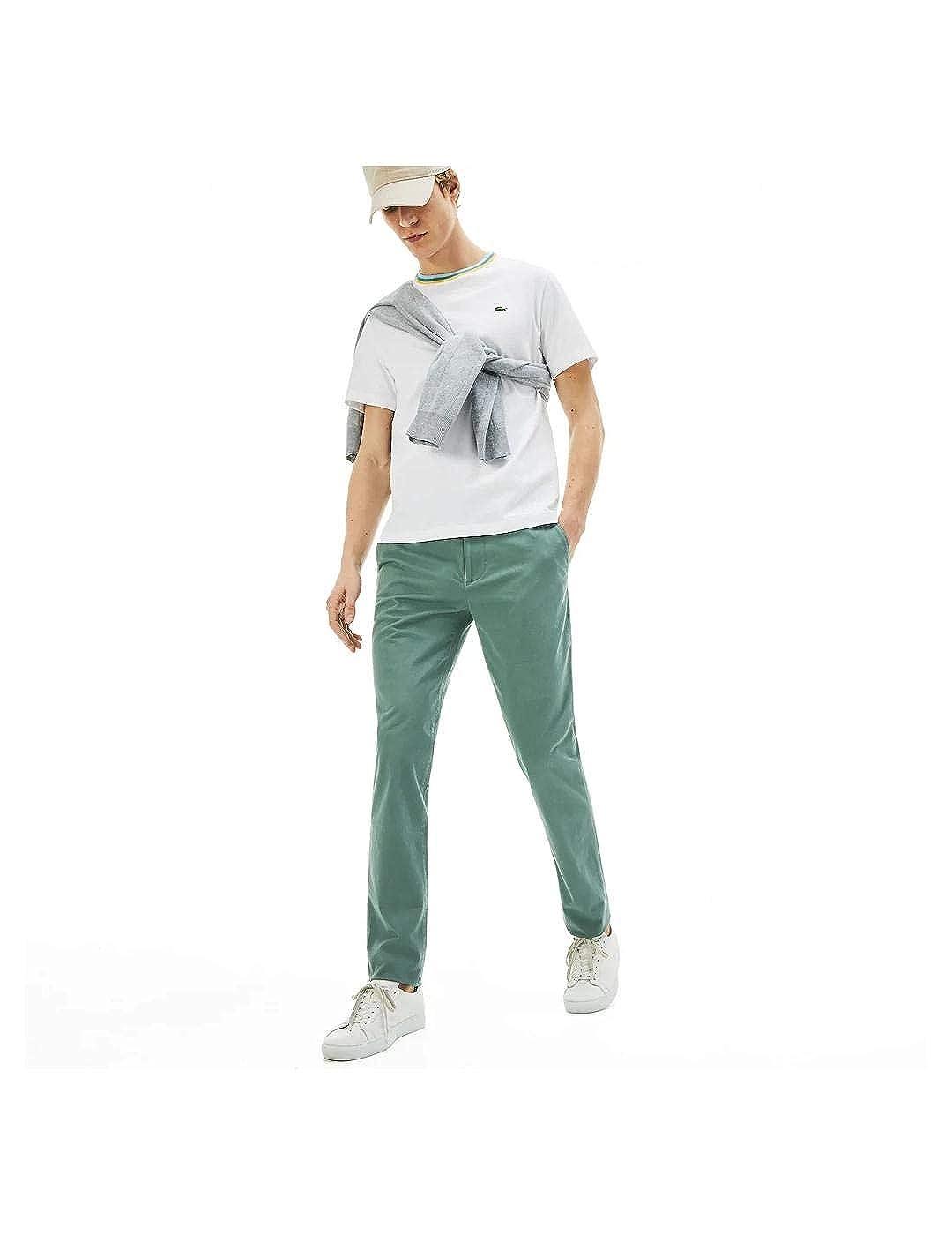 Pantalón Lacoste Chino Slim Fit De Gabardina para Hombre 50 Verde ...