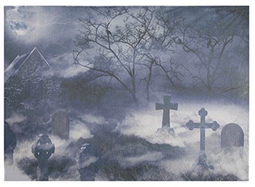 Halloween Photography Backdrop - Halloween Theme Photo Background, Tapestry, Scary Graveyard Pictorial Photo Booth Prop, 5 x 7 Feet -
