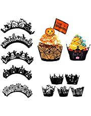 25 stycken cupcake-wrappers halloween, cupcake-wrappers, cupcake-wrappers spindelnät, för halloween, julfester, födelsedagsfester, tårtdekoration