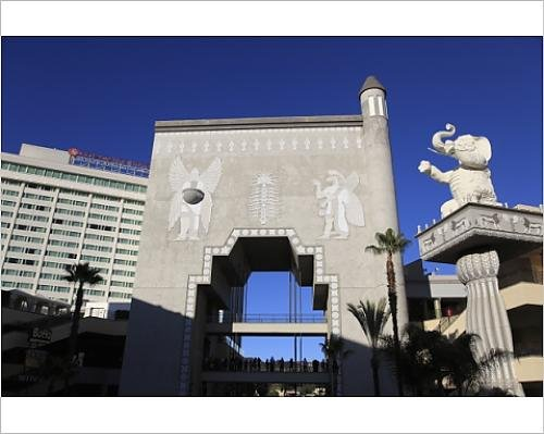 Photographic Print of Hollywood and Highland Shopping Center, Hollywood Boulevard, Hollywood, - Shopping Boulevard Hollywood