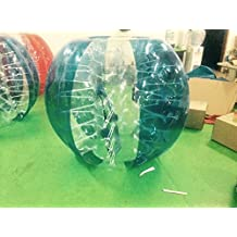 Free Shipping Inflatable Bumper Bubble Balls Body Zorb Ball Soccer Bumper Football Human Hamster Ball (Blue Panel_transparency dot, Diameter=1.5M=5FT)