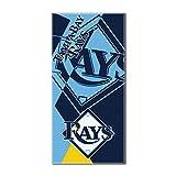 "MLB Tampa Bay Rays ""Puzzle"" Beach Towel, 34""x72"", Navy Blue"