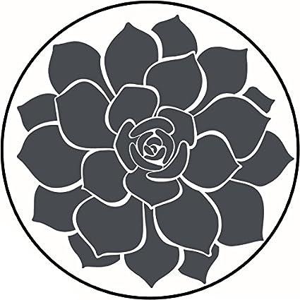 Amazon pretty simple gray desert succulent flower plant cartoon pretty simple gray desert succulent flower plant cartoon vinyl decal sticker 8quot mightylinksfo