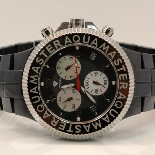 Aqua Master Mens Ceramic Quartz Watch W331 by Aqua Master