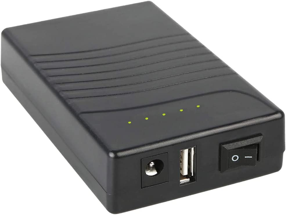 TalentCell Batería de ion de litio recargable de 36 W, 12 V/3000 mAh, 12 V/5 V, doble salida, batería externa con cargador para tira LED, luz de cinta, cámara CCTV y más, color negro