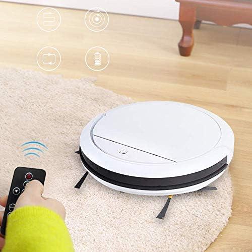 Hsatos Aspirateur Robot, Aspirateur Ultra-Mince Intelligent pour Machine De Nettoyage Automatique Domestique, Adapté Aux Couvertures, Planches en Bois, Marbre