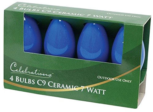 Celebrations C9 Replacement Bulbs Ceramic 7 W Blue by ACE TRADING - SIENNA 2 B00QVBDMNE