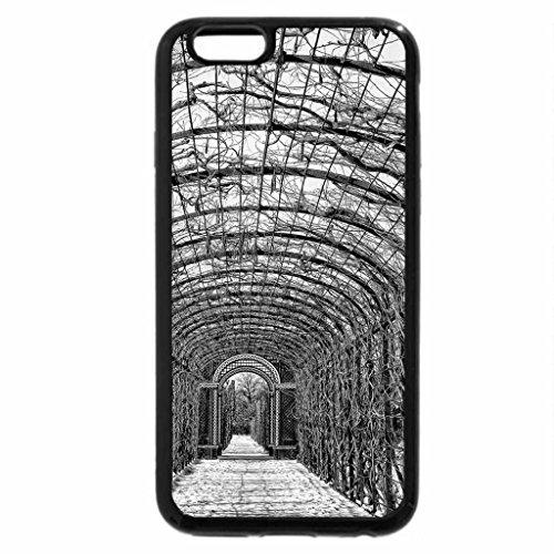 iPhone 6S Plus Case, iPhone 6 Plus Case (Black & White) - bare trellis tunnel in winter