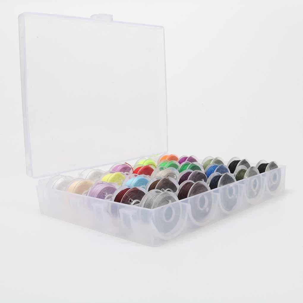 Providethebest 25pcs mezcl/ó los Colores del Hilo de Coser de poli/éster Transparente con bobinas de pl/ástico para su pa/ís con Accesorios de Costura de la m/áquina