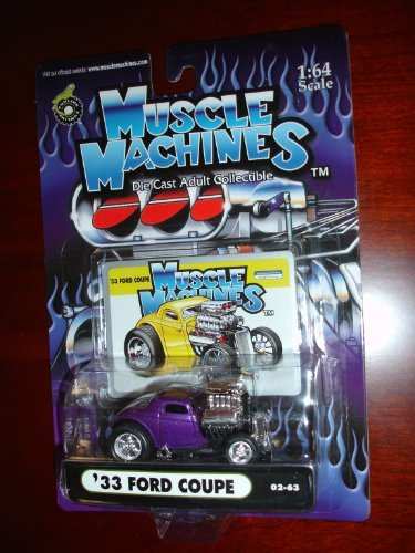Muscle Machines 33 Ford Coupe Purple 1:64 Scale by Funline