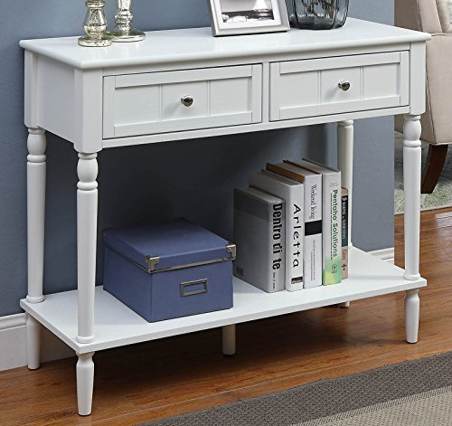 Convenience Concepts  French Country Hallway Table, White Country French Country End Table