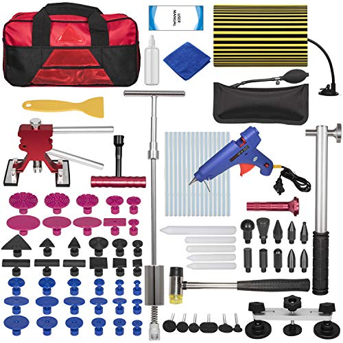 100pcs Car Paintless Dent Repair Removal Tools, Auto Dent Puller Kit Slide Hammer Glue Puller Repair Starter Set for Car Hail Damage & Door Ding Repair