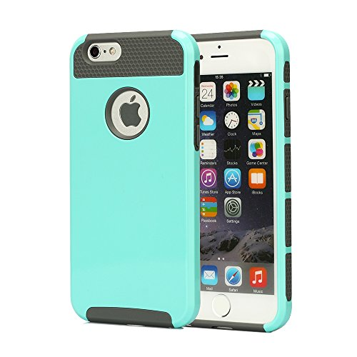 iPhone 6 Case, oneCase™ Hybrid High Impact Shockproof Protective Case Hard Plastic+Soft Silicon Rubber Armor Defender Case Cover for Apple iPhone 6 4.7 inch Screen with Stylus & Screen Protector (Light Blue/Grey)