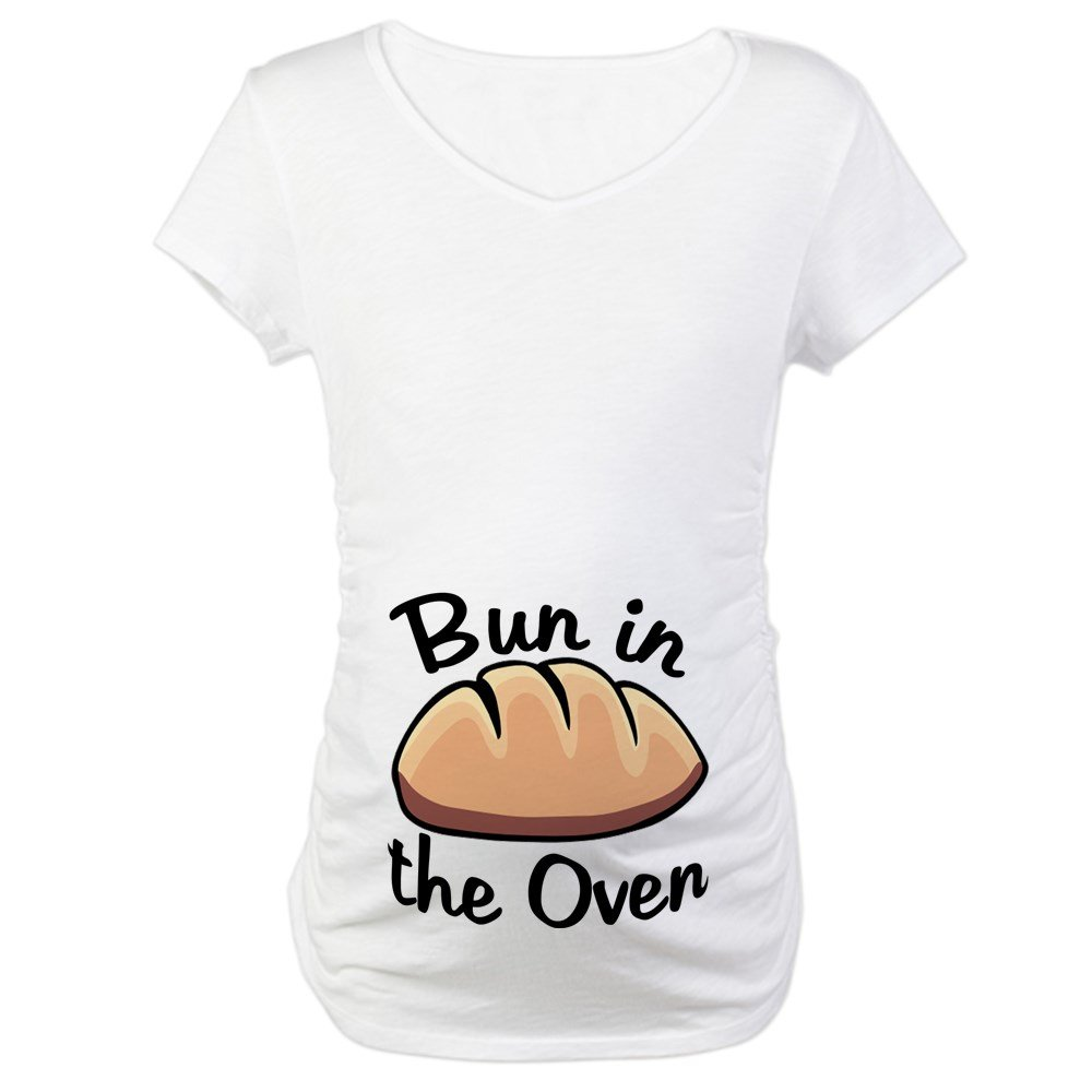 CafePress Bun in the Oven Maternity T-Shirt Maternity Tee White