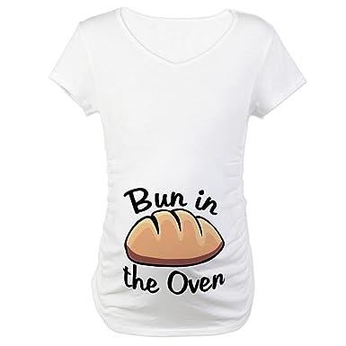 121adb8f80cfe CafePress Bun in The Oven Maternity T-Shirt Cotton Maternity T-Shirt, Cute