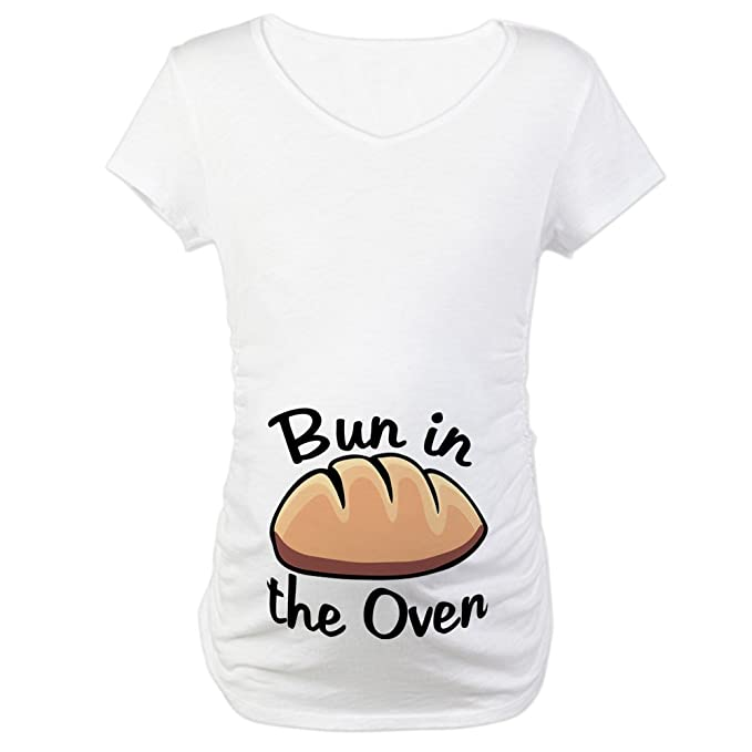 0a53b9ff Amazon.com: CafePress Bun in The Oven Maternity T-Shirt Maternity Tee:  Clothing