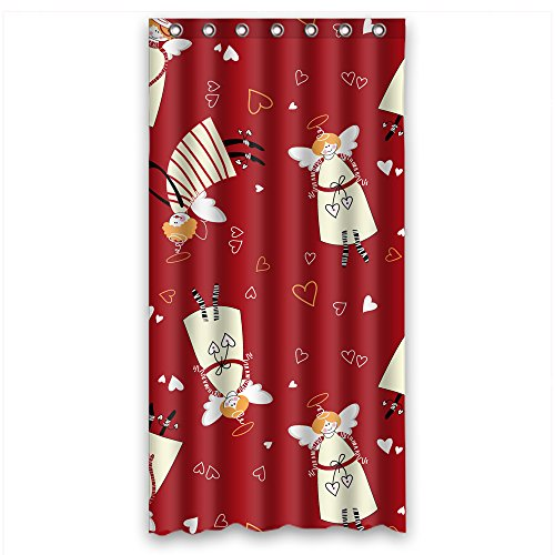 - Eyeselect Polyester Shower Drape Of Love For Artwork Teens Mother Boys Him. Dries Quickly Width X Height / 36 X 72 Inches / W H 90 By 180 Cm(fabric)