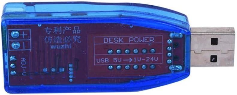 Couleur : Red Module daffichage USB de Tension de 5V /à 24V 12V Boost Alimentation de Bureau r/églable 3W 1-24V Module de Test Vpqtettuecu Accessoires pour Ordinateur