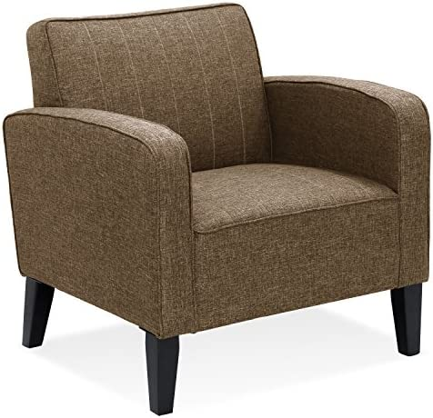 Furinno Euro Classic Upholstered Arm Accent Chair